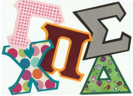 Letter Me Greek! Greek store for Iron-on greek letters for Fraternity & Sorority Apparel, clothing, t-shirts, sweatshirts, quilts, banners and more
