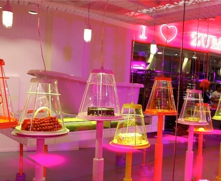 Zumbo Pattiseric- decked out with the coolest mouse-trap inspired luminaires.