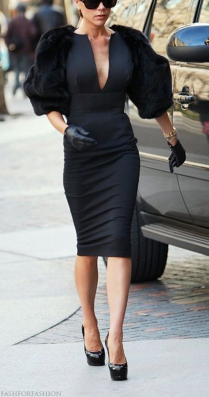 Now this is fashion....Thank you Mrs. Beckham.