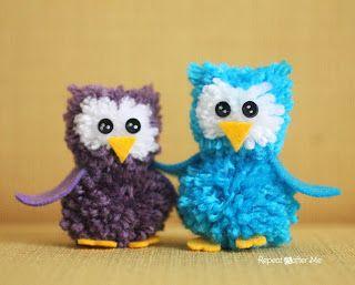 Tina's handicraft : owl pom-poms