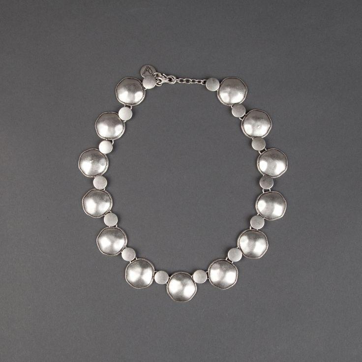 Joules Necklace, handmade silver plated jewellery www.pashajewellery.co.uk