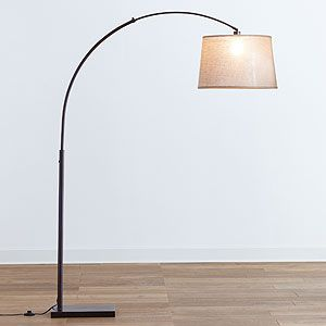 Arc lamp from cost plus world market a nice one for the for Floor lamp placement in living room