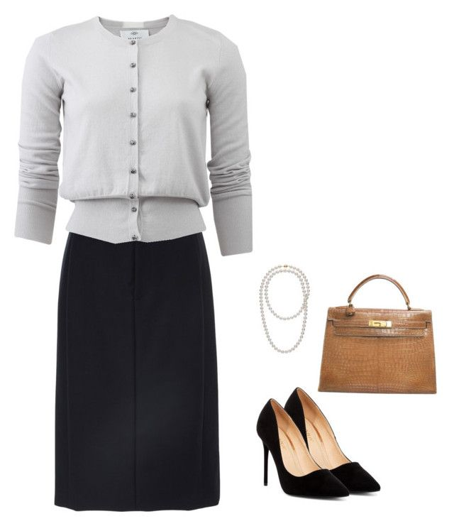 """""""Office 3"""" by marmileva-tanya on Polyvore featuring мода, Khaite, Allude, Liliana и Hermès"""