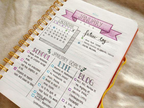 Calendario mensual: seguimiento de objetivos, separarlo por categorías