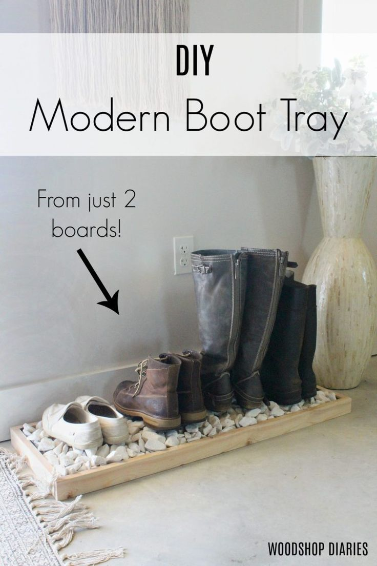 How to Make a Modern DIY Boot Tray from Two Boards