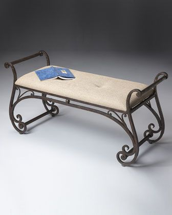 $699.00  Iron Sleigh Bench at Horchow.