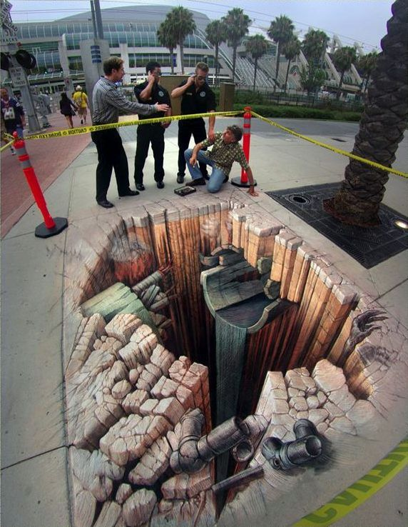 Crash Site | Pavement Art Gallery 4 | Kurt Wenner - Master Artist, Architect, and Street Painter