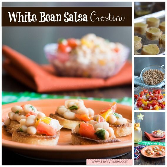 ... appetizer that will surprise your friends! White Bean Salsa Crostini