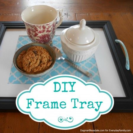 #DIY Project: Make Your Own Frame Tray I don't I think of this instead of going out and buying something. This is something in def doing today. Always wanted one for coffee table and nightstand!! Love!
