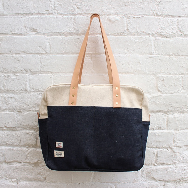 BLK Pine Workshop Weekender Bag Cone Indigo Denim / Natural Canvas £129.99