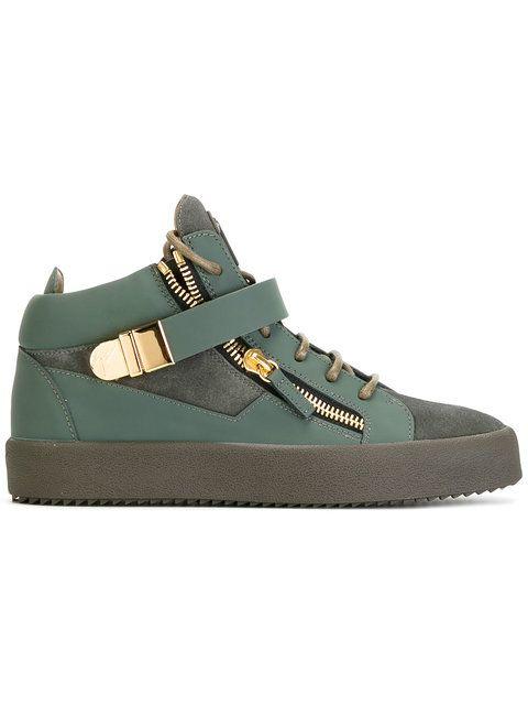 Shoppen Giuseppe Zanotti Design Klassische High-Top-Sneakers.