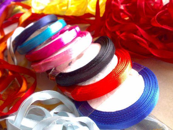 "2 Yards Satin Ribbon Trim Lace 1/4"" 7mm"