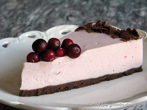 Клюквенно-творожный пирог