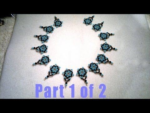 Beading4perfectionists : Netted Necklace design in the making, part 1 of 2 beading tutorial. - YouTube