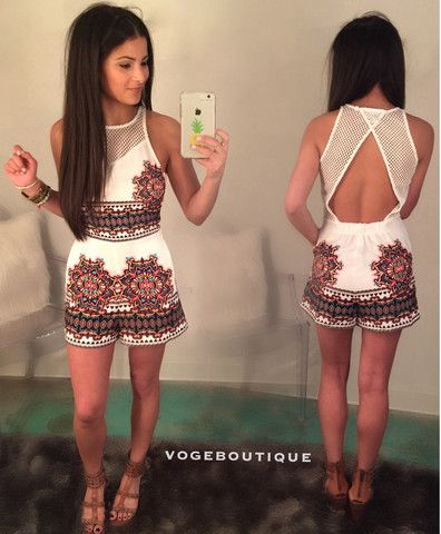 Mandala Printed Romper | Voge Boutique Online Instashop
