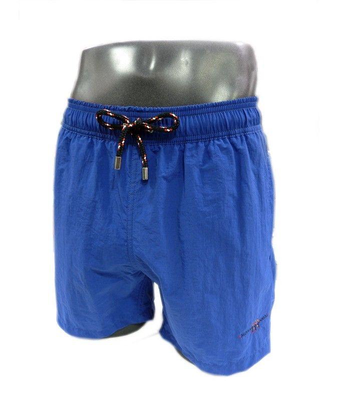 Bañadores para hombre Meyba, corte clásico, tono azul y vivos en rojo. SECADO RÁPIDO. Bolsillos laterales. TALLAS EXTRAGRANDES: 2XL. Precio: 49,90€. http://www.varelaintimo.com/78-banadores
