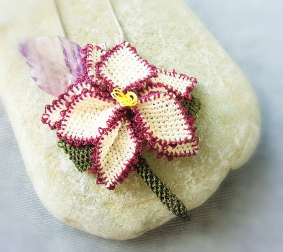 The Oya Collection  Needle Lace Flower with by StaroftheEast