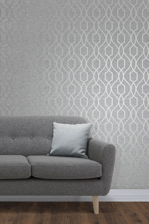 Apex Trellis By Albany Silver Wallpaper Wallpaper Direct Feature Wall Living Room Wallpaper Feature Wall Living Room Wallpaper Living Room Accent Wall