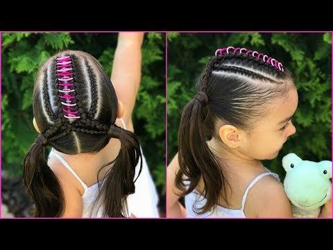 Peinado para niñas con ligas la maya y trenzas  Peinado para niñas faciles y rapidos de hacer LPH - YouTube