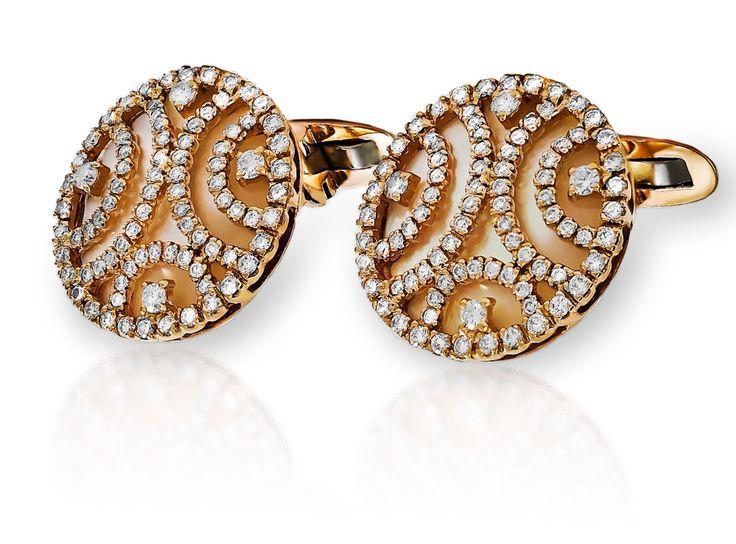 Haute Vault, gold and diamond cufflinks, mens accessories
