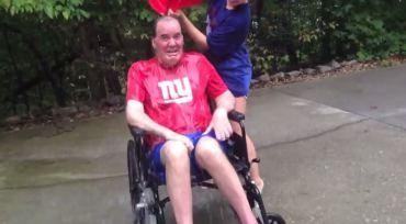 Steve Broas accepts ice bucket challenge, challenge NY Giants quarterback Eli Manning
