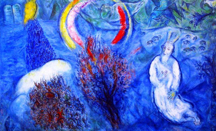 Chagall - Moses und der brennende Dornbusch