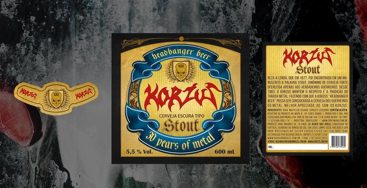 Job: Headbanger Beer. Client: Korzus. Country: Brazil.