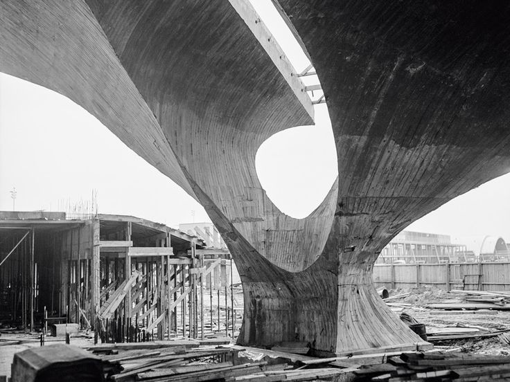 Eero Saarinen's TWA Flight Center was a striking response to the expanding popularity of jet travel.