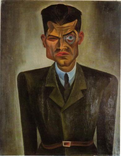 Bildinis Raoul Hausmann ( Portrait of Raoul Hausmann ), Conrad Felixmüller