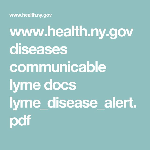 www.health.ny.gov diseases communicable lyme docs lyme_disease_alert.pdf