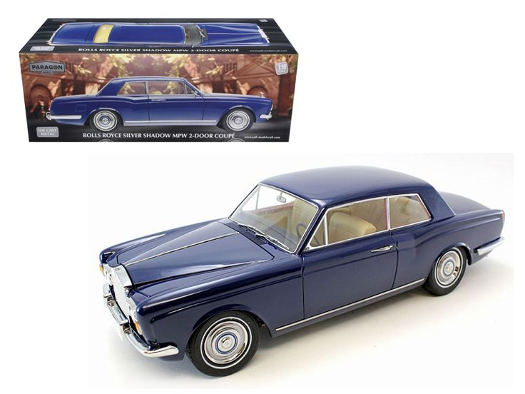 """1968 Rolls Royce Silver Shadow Oxford Blue from Movie """"Thomas Crown Affairs"""" Ltd to 3500pc 1/18 Diecast Model by Paragon Models - Brand new 1:18 scale diecast model of 1968 Rolls Royce Silver Shadow Oxford Blue from Movie """"Thomas Crown Affairs"""" die cast model car by Paragon Models. Brand new box. Rubber tires. Has steerable wheels. Made of diecast metal. Has opening hood, doors and trunk. Limited Edition 1 of 3500 Produced Worldwide. Detailed exterior, interior, engine compartment. Comes…"""