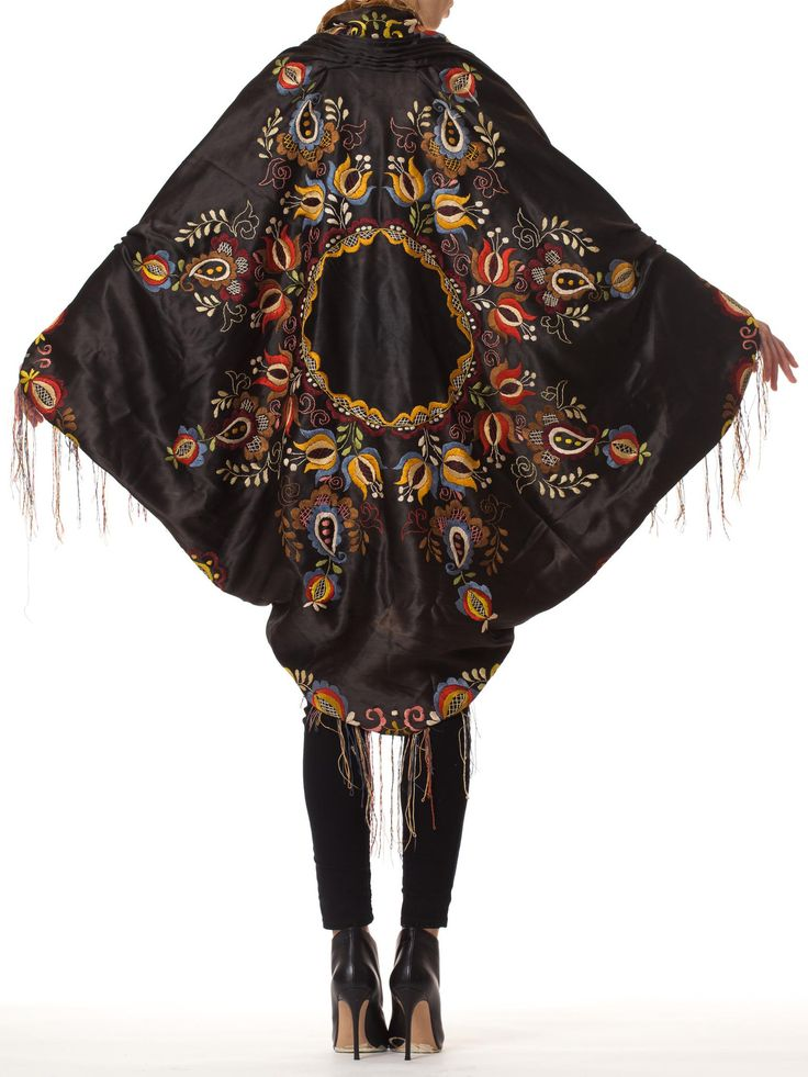Poiret Inspired Cocoon Coat made from a Victorian Transylvanian Shawl