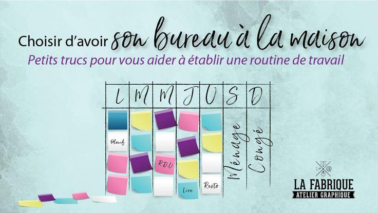 Êtes-vous de celles qui ont déjà pensé que le port de la pantoufle était recommandé pour le travail à la maison?  http://lafabriquegraphique.ca/fr/blogue/choisirdavoirsonbureaualamaison/?utm_content=bufferd4639&utm_medium=social&utm_source=pinterest.com&utm_campaign=buffer