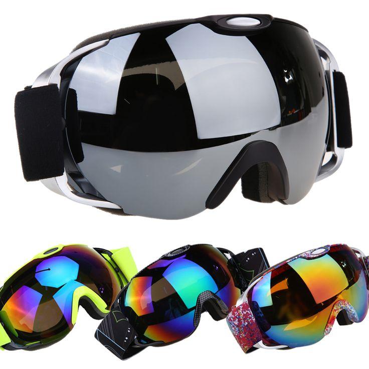 Unisex Double Lens UV400 Anti-fog Spherical Ski Snowboard Skiing Glasses Professional Men Women Ski Goggle Eyewear ISP
