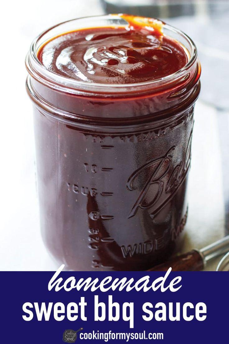 Homemade Sweet BBQ Sauce Recipe Homemade bbq, Easy bbq