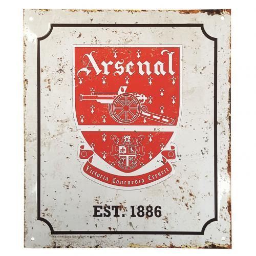 ARSENAL Metal Retro Logo sign. Approx 23 cm x 25 cm in size. Rusted metal effect. Official Licensed Arsenal sign. FREE DELIVERY