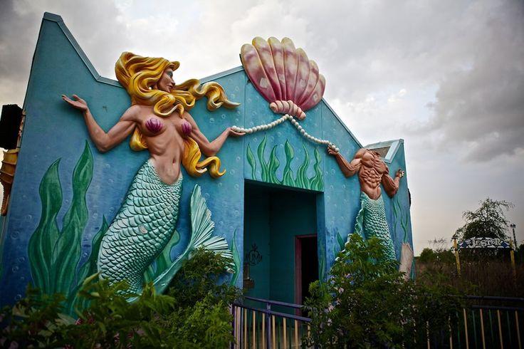 Six Flags new Orleans after Hurricane Katrina hit. #graffiti #urban #art
