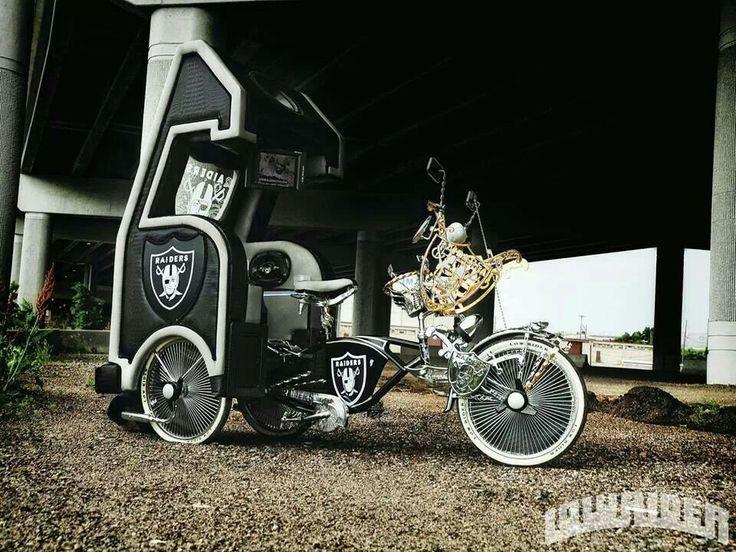 Sick ass Raiders lowrider bike