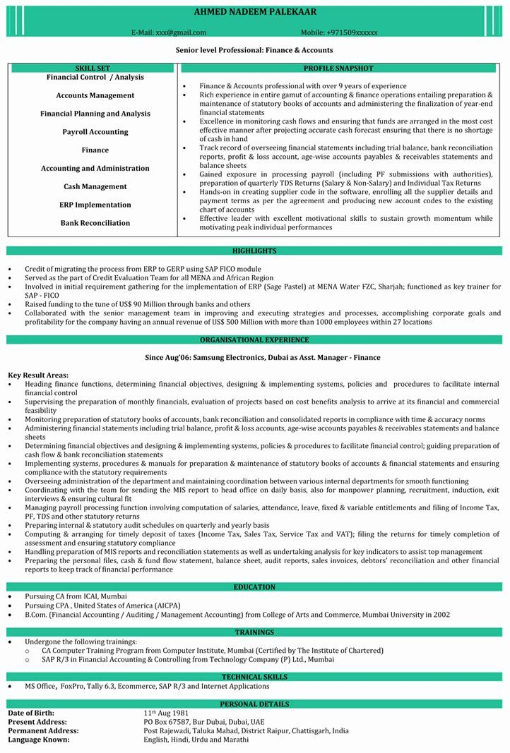 Teach For America Resume Beautiful Ca Resume Samples Accountant Resume Resume Format Resume Format In Word