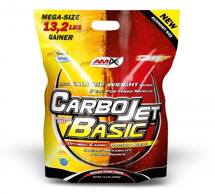 CarboJet™ Basic je základním produktem řady CarboJet, který se vyznačuje vyskou kalorickou hodnotou, pocházející ze speciálně sestaveného poměru zdrojů sacharidů a bílkovin. Bílkoviny obsažené v CarboJet™ Basic přispívají k růstu a udržení svalové hmoty a jsou přirozeně bohaté na L-Glutamin a aminokyseliny BCAA.