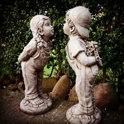 One Of Those Garden Statues, Which Brings A Smile On Your Face. Stone Garden