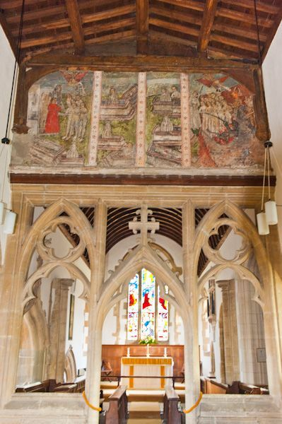 St Mary's Church in North Leigh, Oxfordshire. An architecturally fascinating late-Saxon church, boasting a 15th century Doom fresco and a Perpendicular Gothic chapel with an exceptional fan vaulted ceiling.