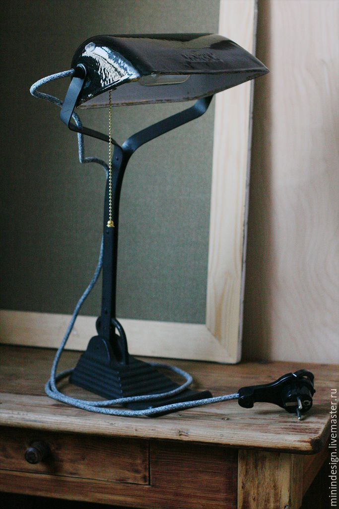 Купить Оригинальная настольная лампа Horax Bauhaus 1932г - черный, баухаус, лампа настольная, ретро