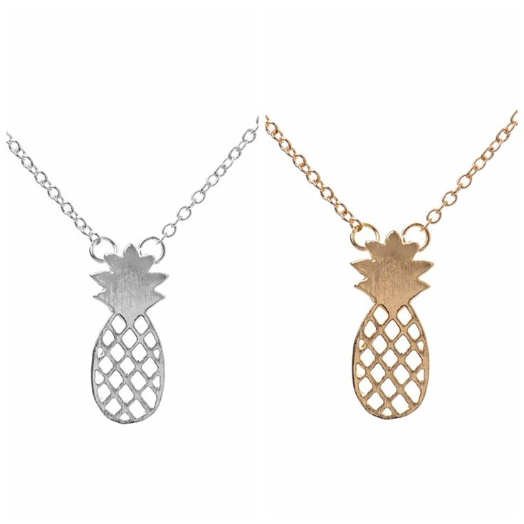 10pieces Fashion Pineapple Necklace Gifts for Women Silver Plated Dainty Pineapple Necklace Fruit Women Necklace wholesale