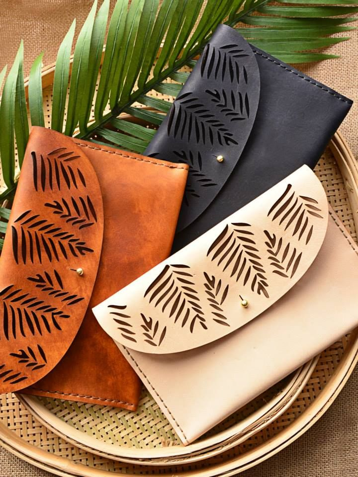 Tropical Clutches - Available in different colours - genuine leather - Marco Visconti - Hong-Kong