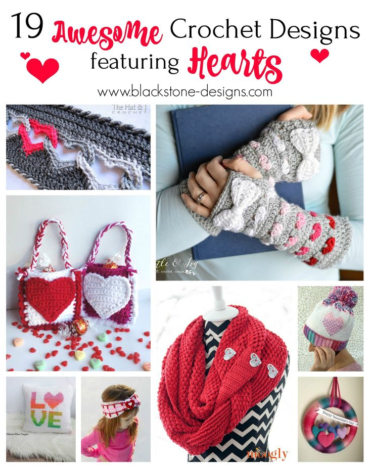 19 Awesome Crochet Designs Featuring Hearts Roundup from Blackstone Designs  #crochet #crochetpattern #Heart #valentinesday #roundup