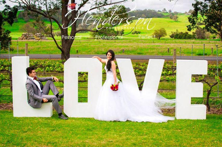 giant LOVE letters - bright colourful modern theme - vineyard in the Ferguson Valley region, Bunbury, Western Australia