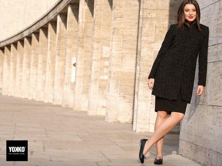 For cold days & evenings, ELISABETH jackets YOKKO | fall16 #jackets #wool #black #white #yokko #fashion #style #women