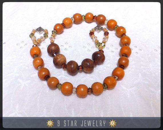 Baha'i Wooden Prayer Beads  (Alláh-u-Abhá)  Unique  by 9StarJewelry #bahai #9starjewelry #etsy