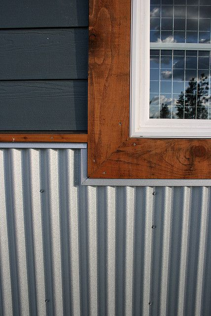 Corrugated Plastic Windows : Cedar trim and metal skirting meet oh dear lord this